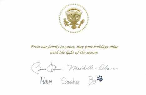 Obama Xmas card